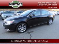 Clean CARFAX. Carbon Black Metallic 2012 Buick LaCrosse