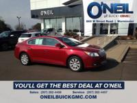 CARFAX One-Owner. Clean CARFAX. Red 2012 Buick LaCrosse