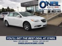 White 2012 Buick Regal FWD 6-Speed Automatic Electronic