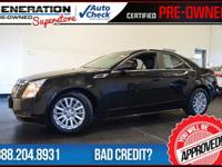 4D Sedan, Black, and 2012 Cadillac CTS. Your