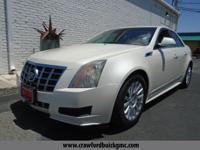 White 2012 Cadillac CTS Luxury RWD 6-Speed 3.0L V6 SIDI