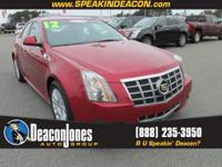 Cadillac Certified, CARFAX 1-Owner. Satellite Radio,
