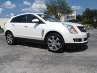 Certified. White 2012 Cadillac SRX Performance AWD