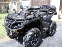 2012 Can Am Outlander 800 XT 4x4 very clean!! like new!