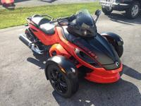 The bike is Orange-Red and matte black and always has