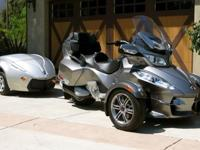 the Can Am Spyder three-wheeler offers the driver a