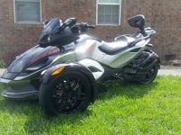 Canam Spyder RSS 428 miles. Electronic shift push