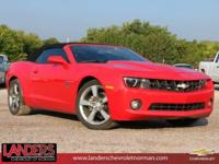Red 2012 Chevrolet Camaro 2LT RWD 6-Speed 3.6L V6 DGI
