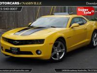 This 2012 Chevrolet Camaro 2dr 2dr Coupe 2LT features a