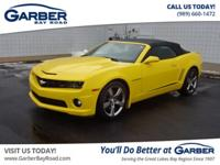 Clean CARFAX. Rally Yellow 2012 Chevrolet Camaro SS 2SS