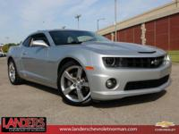 Clean CARFAX. Silver Ice Metallic 2012 Chevrolet Camaro
