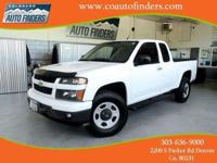 2012 White Chevrolet Colorado EXT CAB Truck For Sale in