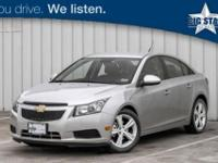 Very Clean Cruze 2LT! Well Equipped with Plush Leather
