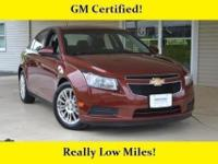 Chevrolet Certified, Excellent Condition, LOW MILES -