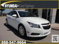 ECO! SAVE GAS! UP TO 42 MPG! 2012 CHEVROLET CRUZE ECO -