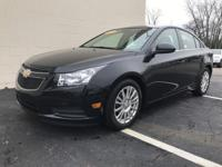 2012 CHEVROLET CRUZE ECO. FOUR DOOR. EXTERIOR BLACK.
