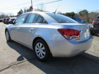 Options:  2012 Chevrolet Cruze Ls|Silver Ice