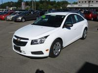 Our 2012 Chevrolet Cruze LS looks dynamite in Summit