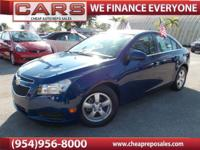 2012 CHEVROLET CRUZE LT WITH ONLY 19,798 ORIGINAL MILES