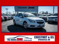 2012 Chevrolet Cruze LT in Summit White with Grey Cloth