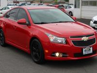 Clean CARFAX. Victory Red 2012 Chevrolet Cruze 1LT RS