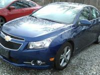 This one owner, 2013 Chevy Cruze has keyless entry, a