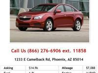 2012 Chevrolet Cruze LT 4dr Sdn LT w/1LT Sedan Red I4