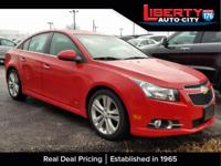 CARFAX One-Owner. Victory Red 2012 Chevrolet Cruze LTZ