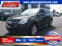 Black 2012 Chevrolet Equinox LS FWD 6-Speed Automatic