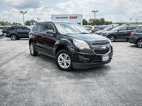 Clean CARFAX. Black 2012 Chevrolet Equinox LS FWD
