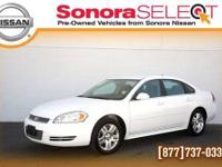 2012 CHEVROLET IMPALA LT,3.6L V6, SUMMIT WHITE, ONE