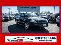 2012 Chevrolet Impala Lt in Black with Gray Cloth