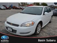 Presented in Summit White, our 2012 Chevrolet Impala LT