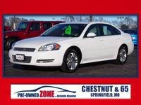 2012 Chevrolet Impala LT in Summit White with Gray
