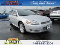 This 2012 Chevrolet Impala LT in Silver is well