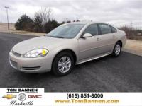 Chevrolet CERTIFIED** This gas-saving 2012 Impala LS