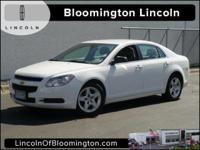New Price! 2012 Chevrolet Malibu LS 1FL White 4D Sedan