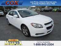 This 2012 Chevrolet Malibu LT in is well equipped with: