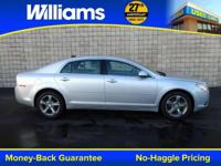 Options:  2012 Chevrolet Malibu Lt|Silver|Clean Vehicle