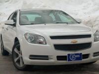 2012 Chevrolet Malibu, Summit White, One Owner,