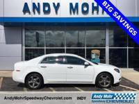 Summit White 2012 Chevrolet Malibu LT 1LT Alloy wheels,