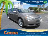 This 2012 Chevrolet Malibu LT in Brn features: Clean
