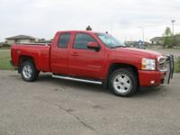 TOTALLY BEAUTIFUL BRIGHT RED EXT CAB 4X4 LT WITH ONLY