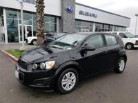 Options:  2012 Chevrolet Sonic 1Ls|Black|Carfax