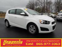 Clean CARFAX. This 2012 Chevrolet Sonic 2LS in White