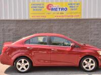 2012 Chevrolet Sonic 2LZ  in Red. ECOTEC 1.8L I4 DOHC