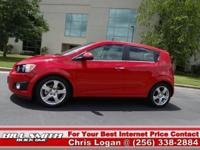 This is one Sharp Chevy Sonic LTZ Hatchback! It was