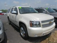 What a nice SUV! This White 2012 Chevrolet Suburban