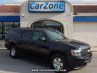 2012 CHEVROLET SUBURBAN LT - Black With Black Leather -