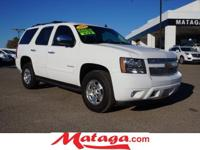 2012 Chevrolet Tahoe LT in Summit White with Ebony